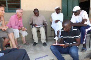 Réunion de travail à Mar Lodj avec les enseignants et les notables